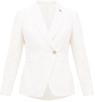 Brunello Cucinelli Double-breasted Linen-blend Blazer - Ivory