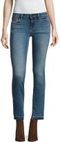 Free People Women's Low-Rise Side Slit Cuff Skinny Jean