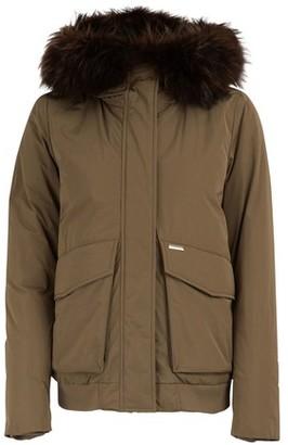 Woolrich Short fur-lined bomber jacket