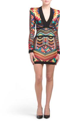 Geometric Print Knit Dress