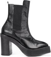 Yang Li platform mid-calf boots - women - Leather/rubber/Calf Leather/Spandex/Elastane - 38