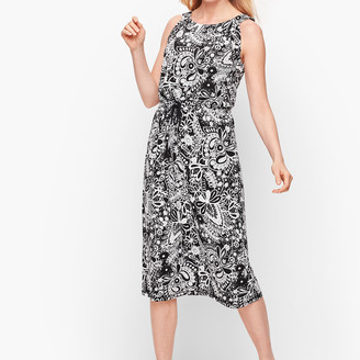 Talbots Sleeveless Midi Dress - Paisley