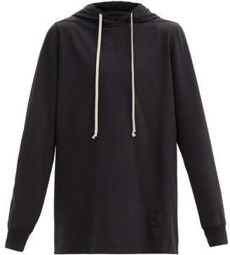 Rick Owens Oversized Cotton-jersey Hooded Sweatshirt - Black