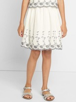 Gap Floral eyelet flippy skirt