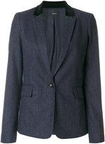 Joseph single button blazer - women - Cotton/Spandex/Elastane/Wool - 36