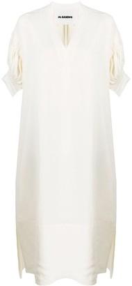 Jil Sander asymmetric V-neck dress