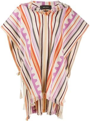 Isabel Marant Oversized Stripe Pattern Poncho