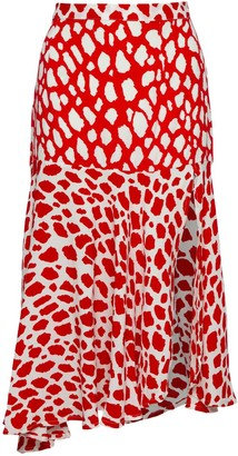 State Of Georgia The Paris Skirt In Giraffe Red