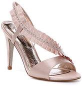Adrianna Papell Everett Pleated Satin Dress Sandals