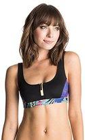 Roxy Women's Polynesia Zipped Bikini Top