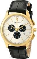 Azzaro Men's AZ2040.63SB.000 Legend Analog Display Swiss Quartz Black Watch