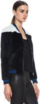 3.1 Phillip Lim Fur Bomber Jacket in Midnight