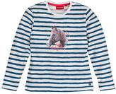 Salt&Pepper SALT AND PEPPER Girl's Longsleeve Horses Stripe Long-Sleeved T-Shirt,18-24 Months