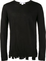 Comme des Garcons distressed hem sweater - men - Acrylic/Wool - S