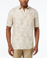Tasso Elba Men's Silk Linen Paisley Short-Sleeve Shirt, Only at Macy's