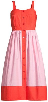 Kate Spade Colorblock Poplin Dress