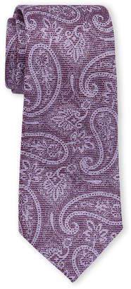 Michael Kors Purple Shadow Paisley Silk-Blend Tie