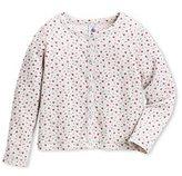 Petit Bateau Girls reversible cardigan in printed tube knit
