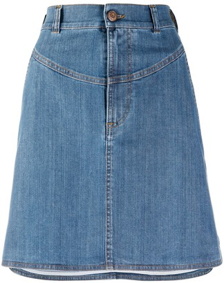 See by Chloe High-Low Denim Skirt