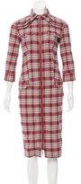 McQ by Alexander McQueen Plaid Shirt Dress