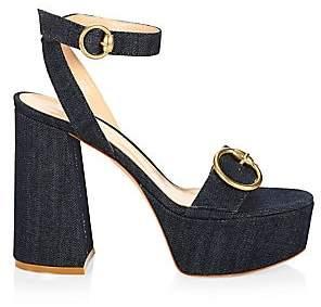 Gianvito Rossi Women's Platform Denim Sandals