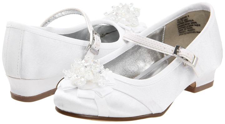 Kenneth Cole Reaction En-Danced 2 (Toddler) (White Leather Satin) - Footwear