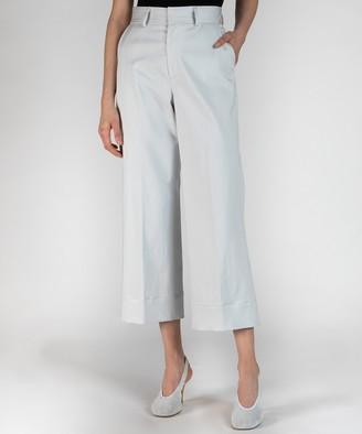 Atm Stretch Cotton Satin Pants - Stone