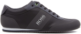 BOSS GREEN Men's Lighter Mesh Trainers Dark Grey