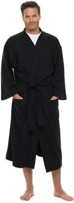 Hanes Men's Ultimate Waffle-Weave Knit Spa Robe