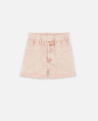 Stella McCartney Peach Denim Shorts, Women's