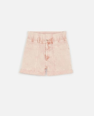 Stella McCartney peach denim shorts