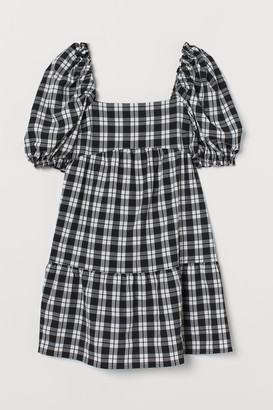 H&M Seersucker Dress - Black