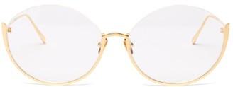 Linda Farrow Rae 18kt Gold-plated Titanium Glasses - Gold