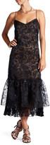 Tracy Reese Ruffle Hem Slip Dress