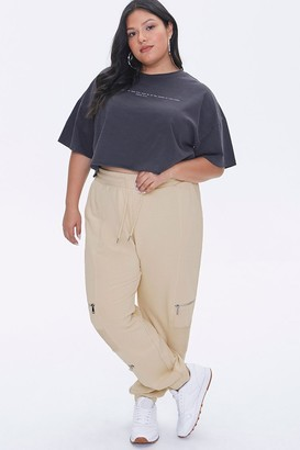 Forever 21 Plus Size Ladder Cutout Ankle Joggers