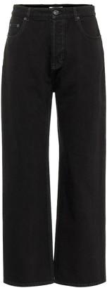 Balenciaga Mid-rise wide-leg cropped jeans
