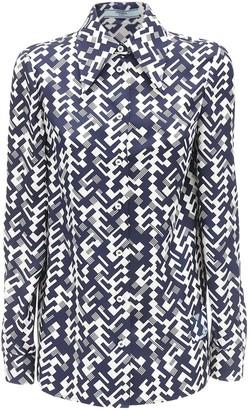 Prada Geometric Printed Silk Twill Shirt