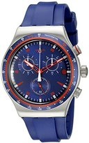 Swatch Men's YVS417 Analog Display Quartz Blue Watch