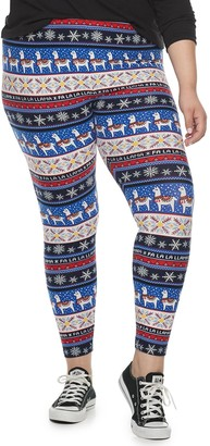 So Juniors' Plus Size Mid-Rise Kitschy Leggings
