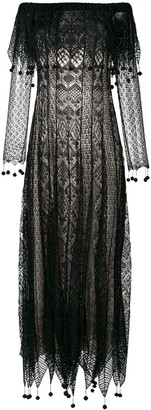 Alexander McQueen pom pom lace dress
