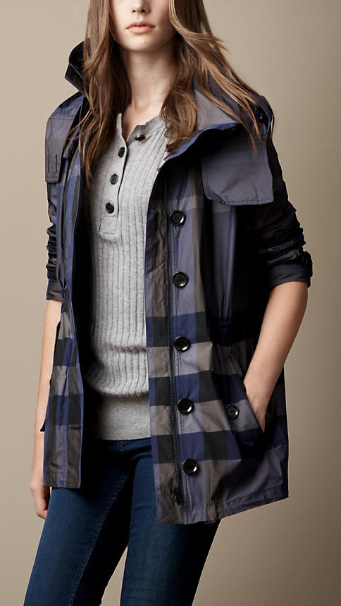 Burberry Check Showerproof Parka