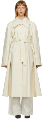 Lemaire Off-White Linen New Trench Coat