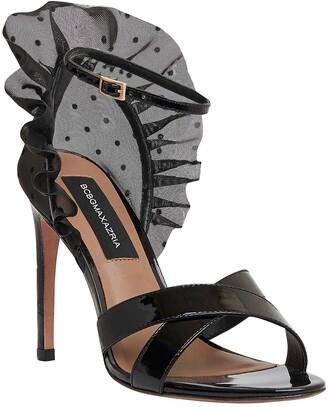 BCBGMAXAZRIA Stella Ruffle Ankle Strap Sandal