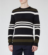 Reiss Ketlett Textured Stripe Jumper