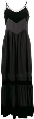 Twin-Set paneled maxi dress