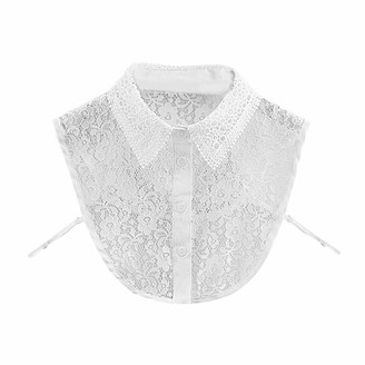 ZHENGJIU Womens Half Shirt Blouse/Top Lace Fake Collar Detachable Half Shirt False Blouse Collar for Most Women Ladies and Girls