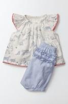 Infant Girl's Mini Boden Summer Animals Top & Ruffle Shorts