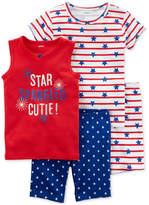 Carter's 4-Pc. Star Spangled Cutie Cotton Pajama Set, Toddler Girls