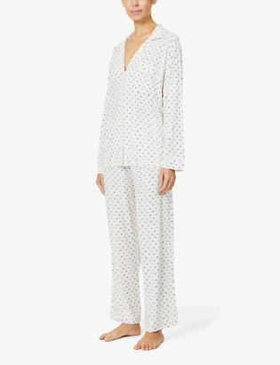 Eberjey Parasol print stretch-jersey pyjama set