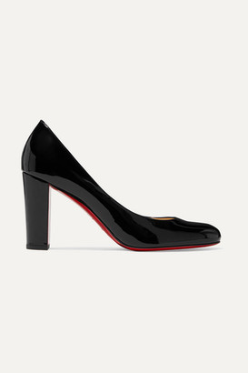 Christian Louboutin Lady Gena 85 Patent-leather Pumps - Black